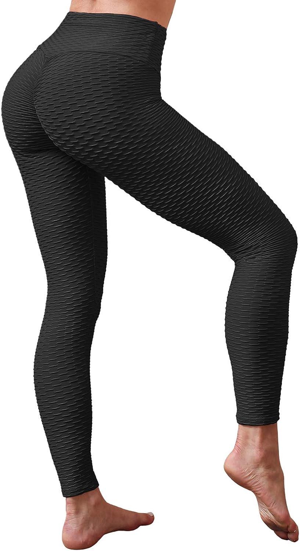 Womens Textured Yoga Set Top//Leggings Sports Pants Anti-Cellulite Fitness Suit M