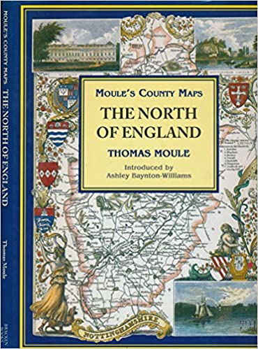 Map Of North England Uk.The North Of England Moule S County Maps Amazon Co Uk Thomas