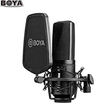 Amazon Com Boya By M1000 Condenser Microphone Podcast Mic Kit