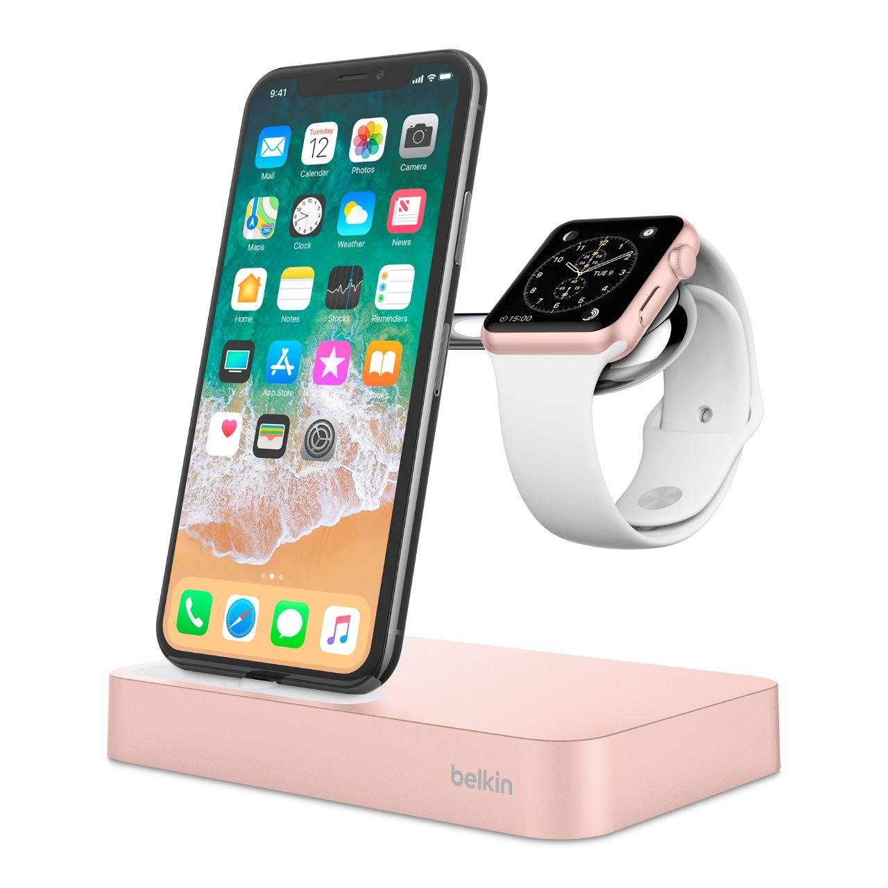 Belkin Valet - Base dock de carga para Apple Watch y iPhone