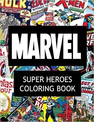 Amazoncom Marvel Super Heroes Coloring Book Super hero Hero