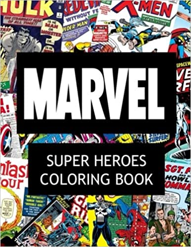 Amazon Marvel Super Heroes Coloring Book Hero Wolverine Avengers Guardians Of The Galaxy X Men Defenders Illuminati