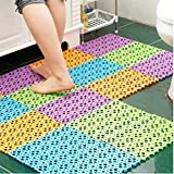 Exteren Practical Nice Plastic Non-slip Shower Bathroom Bath Mosaic Mat Good Quality (A)