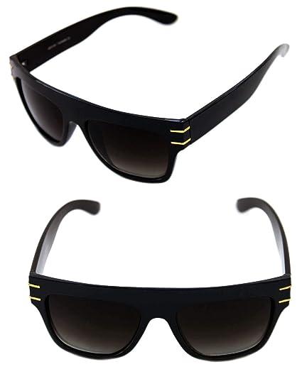 375eb1ef9a33 Men s Hip Hop Flat Top Sunglasses Square RUN DMC Vintage Large Frame Retro  80 s 90s (