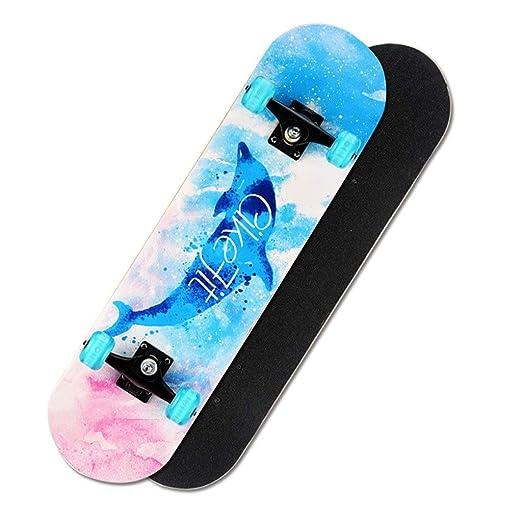 Patinetes clásicos Skateboard Cuatro Ruedas Skateboard Doble ...