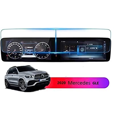 Screen Protector Compatible with 2020 Mercedes Benz GLE GLS 12.3 inch Touch Screen,ZFM Anti Glare Scratch,Shock-Resistant, Navigation Protection Accessories Premium Tempered Glass (V167): GPS & Navigation
