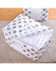 1Pc Storage Bag 42x27x50cm Non Woven Fabric Foldable Star Storage Bag Clothes Blanket Quilt Closet Sweater Home Organizer Box