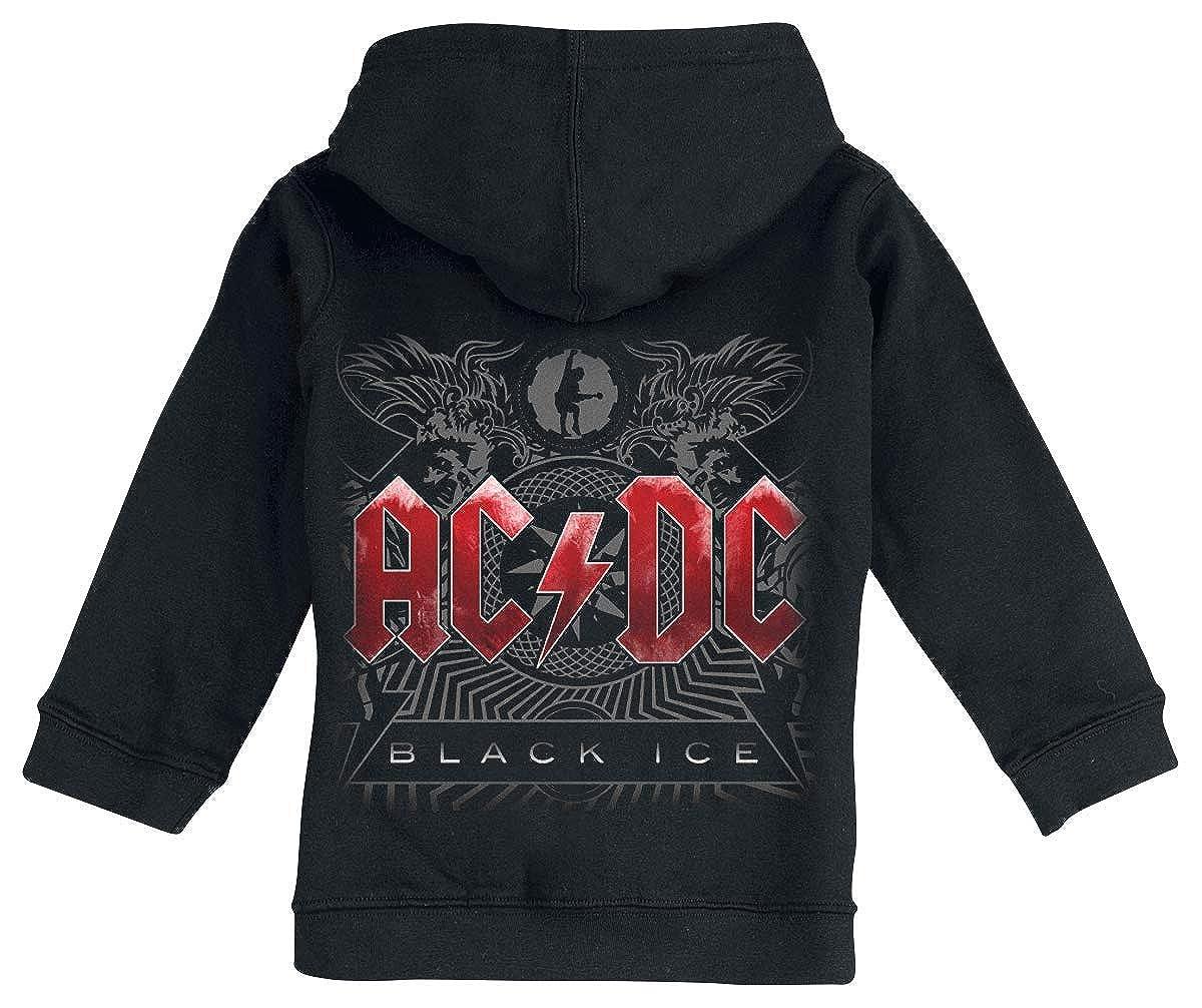 AC//DC Black Ice Veste /à Capuche Zipp/ée Noir