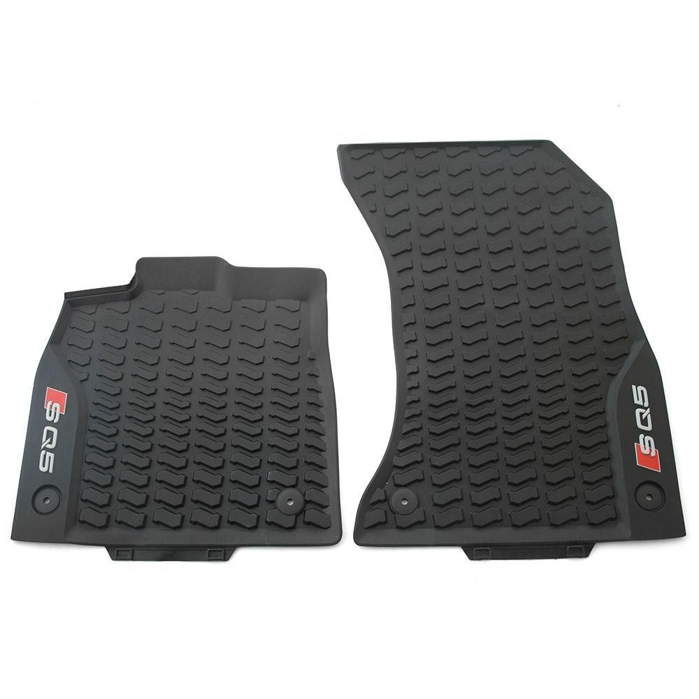 Audi 80B061221A 041 Gummi Fuß matten vorn Original Gummimatten Allwettermatten schwarz Audi Original Zubehör 80B061221A041