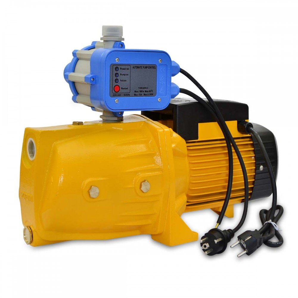 Bomba de Agua de Superficie 1500W con Presostato 95L/Min de Flujo Agoora