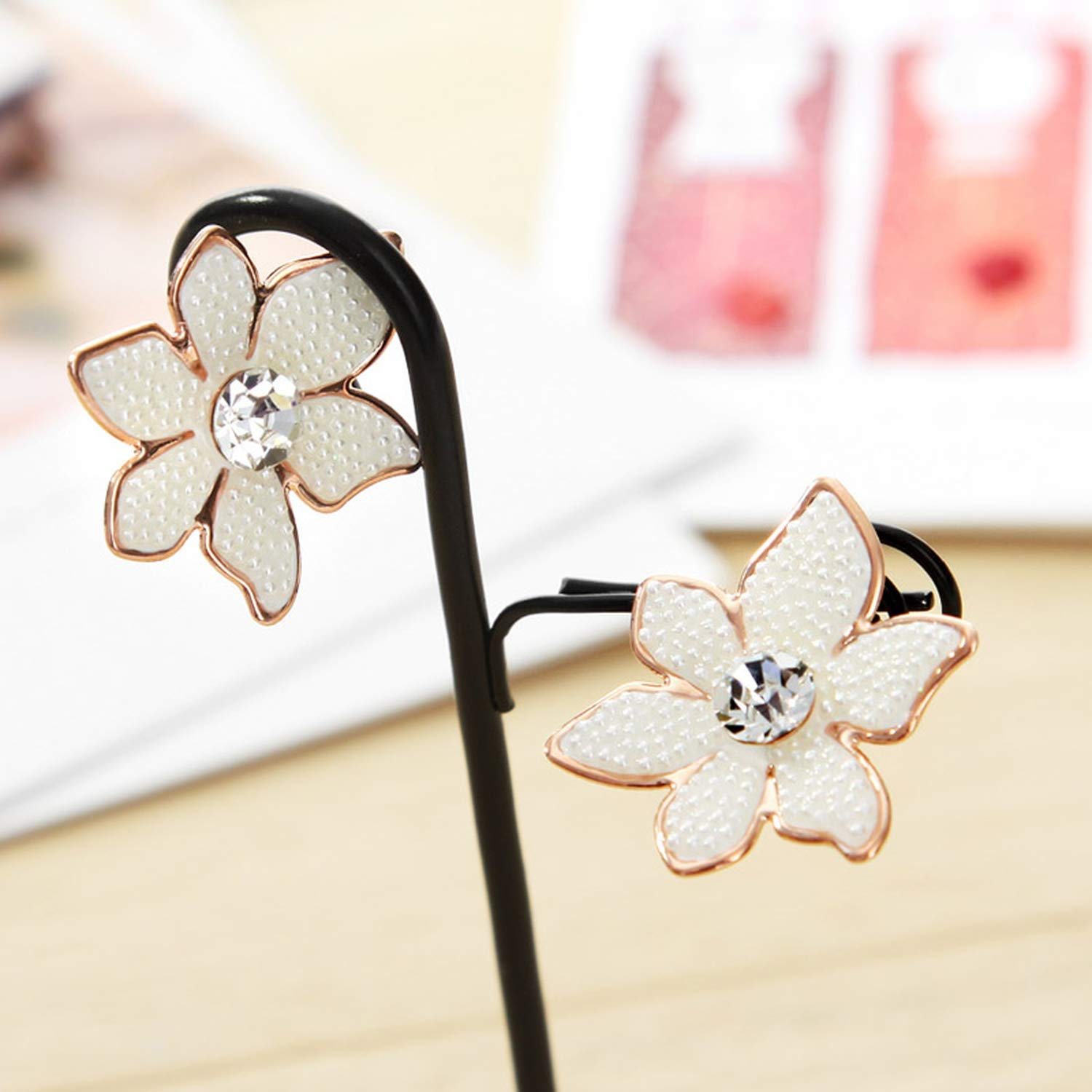 Rose Gold Color Simulatedrl Romantic Stud Earrings Jewelry Gift 2019 New