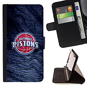 For Lumia 530 Detroit Piston Basketball Style PU Leather Case Wallet Flip Stand Flap Closure Cover