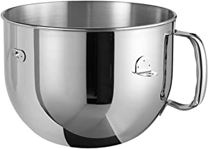 Kitchenaid 5KR7SB Bowl with Handle for Professional Robot Artisan 6.9 Litres Polished Stainless Steel