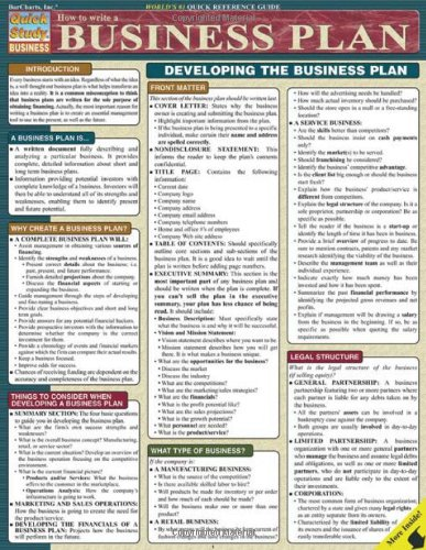 How To Write A Business Plan (Quick Study Business)