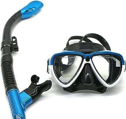 Taucherbrille mit Schnorchel Schwimm-Set Urlaub Tauchmaske Tauchen Schwimmbrille