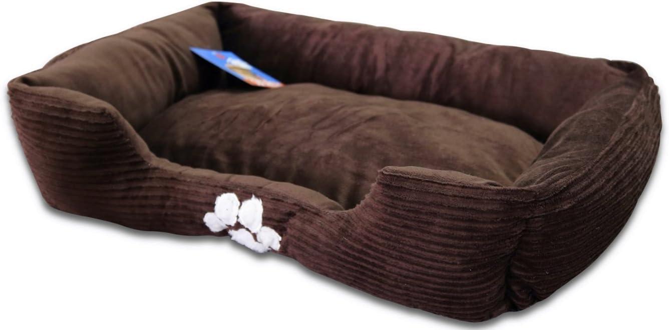 Sofantex Sofantex Paw Print Pet Bed, 28-Inch, Dark Coffee