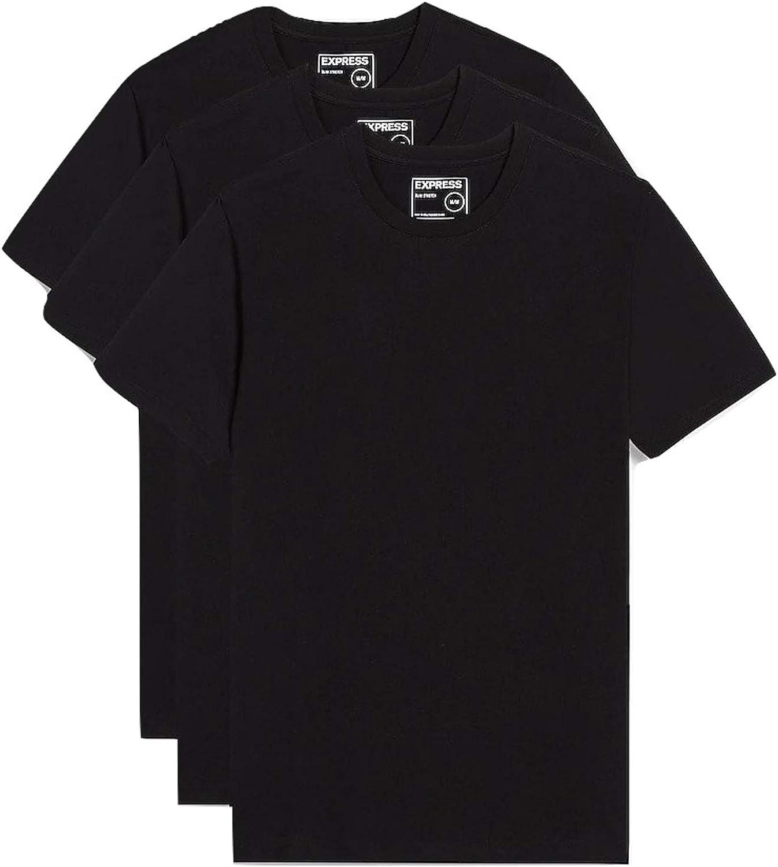 cumulo di rifiuti atlantico contatore  Express 3 Pack Slim Stretch Crew Neck T-Shirts at Amazon Men's Clothing  store