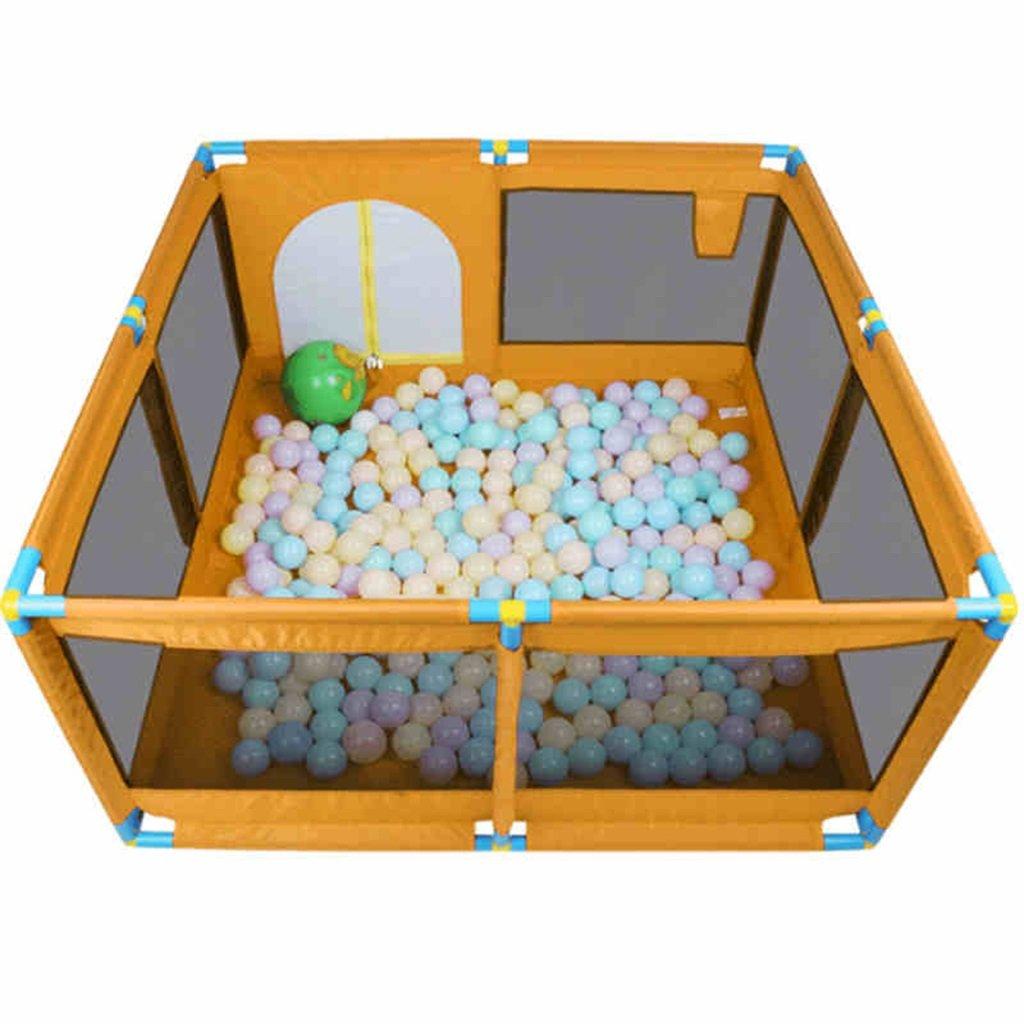 子供用セーフティフェンス、アイロンチューブ、8パネルポータブル折り畳み式折り畳み、子供の赤ちゃん屋内屋外の安全ゲームプレイフェンスフェンス、ルームディバイダー、ブルー (色 : オレンジ)  オレンジ B07DL7HXBR