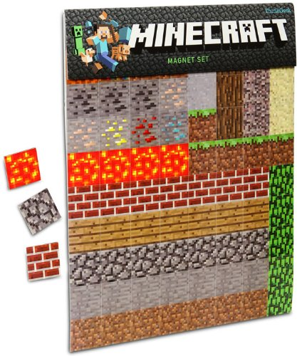Joke Refrigerator Magnet - Minecraft Magnet 2-Sheets Pack - 160 pieces