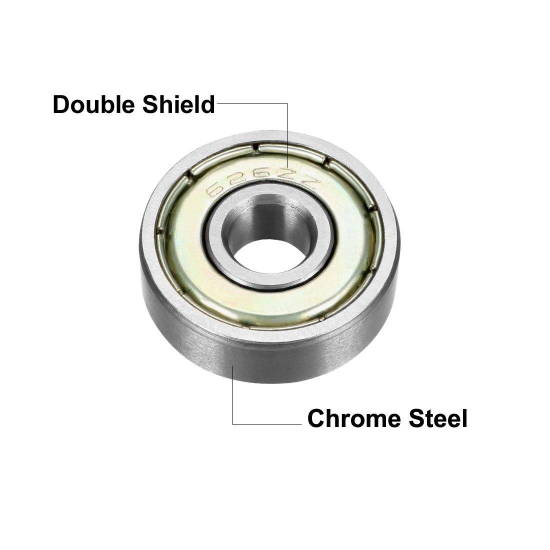 Chrome Steel Premium Lot of 10 pcs 626ZZ Ball Bearings 6mm x 19mm x 6mm