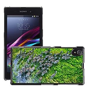 Hot Style Cell Phone PC Hard Case Cover // M00046411 os retina zebras herd x mac wild // Sony Xperia Z1 L39H
