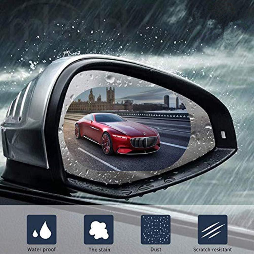 Auto Pellicola Anti-Nebbia RIIMUHIR Pellicola Antipioggia per Specchietto Retrovisore Anti riflesso//graffio 8 Pezzi HD Impermeabile Nano-Rivestito Pellicola per Retrovisore e Finestrini Laterali