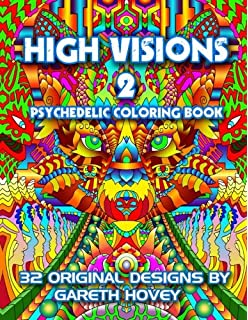 high visions 2 psychedelic coloring book high visions psychedelic coloring book - Psychedelic Coloring Book