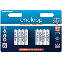 Panasonic Eneloop AAA Micro 750mAh Eneloop NiMH Ready to Use Rechargeable Battery BK-4MCCE (8 Classic Batteries)
