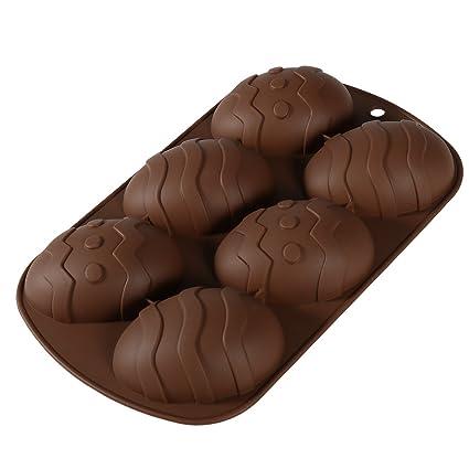ounona molde de huevos de Pascua de silicona Candy moldes para DIY Chocolate postres helados