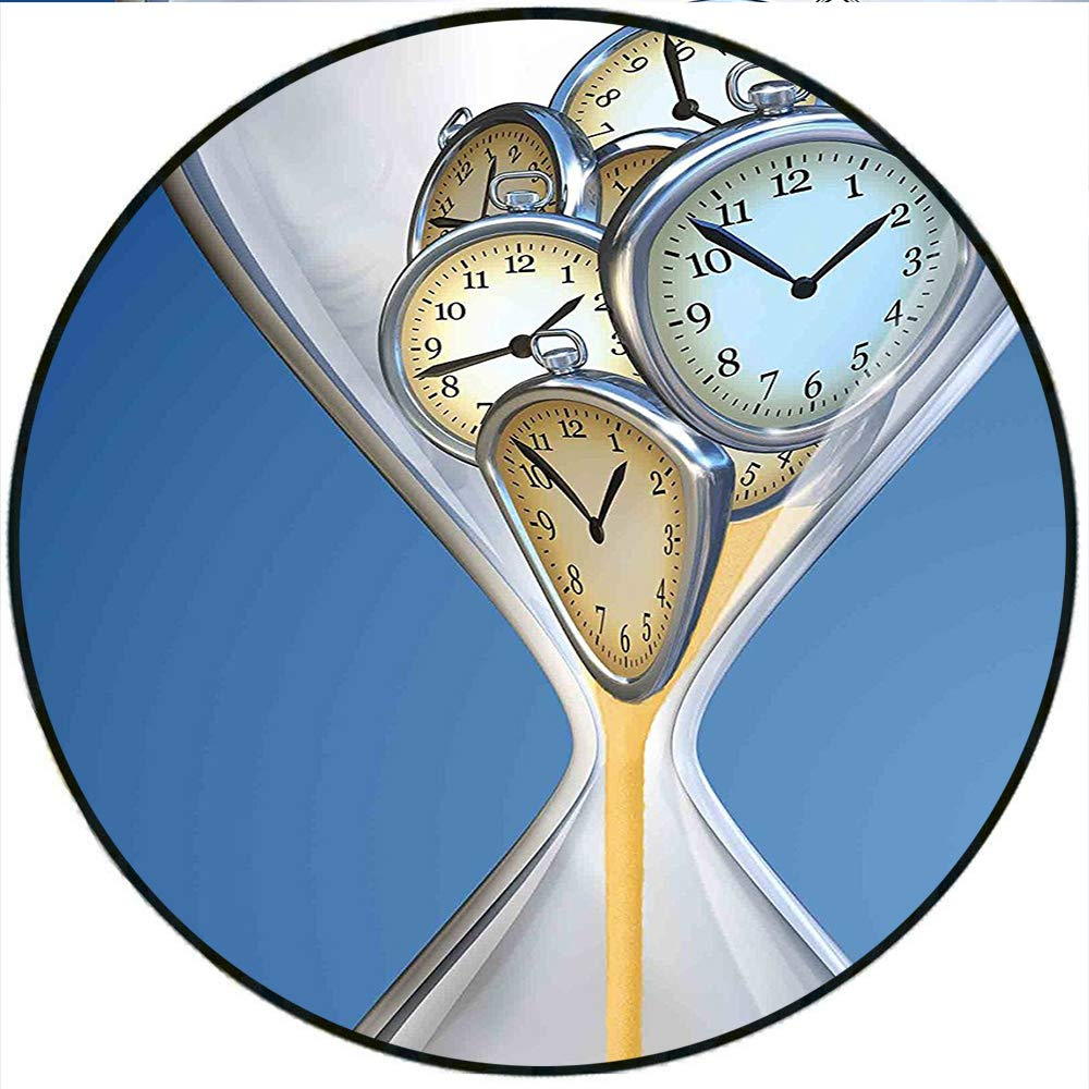 Amazon com: Short Plush Round Carpet Hourglass Time Clocks