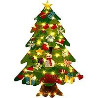 Newooh Árvore de Natal de feltro para crianças pequenas, faça você mesmo, árvore de Natal, boneco de neve, árvore de…