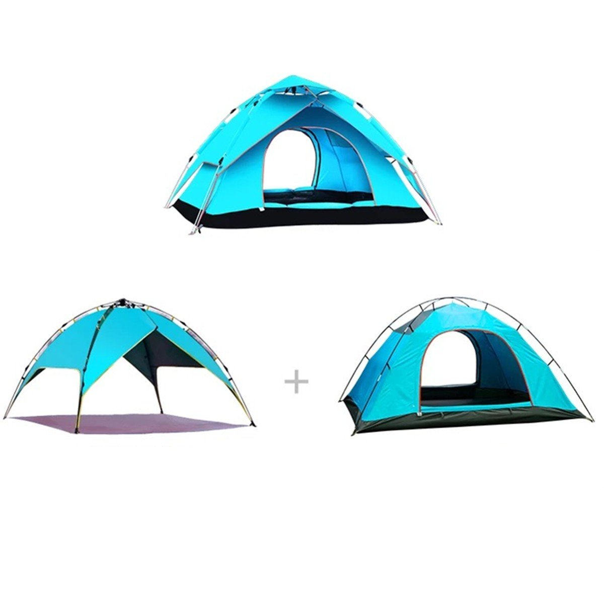 XTENT Outdoor-Automatik-Geschwindigkeit Öffnen Zelt Camping Regendicht Sun Double Double Camping