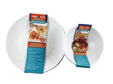 Microwave Safe Plates and Bowls 4 Piece Eco-Friendly Dinnerware Set  sc 1 st  Amazon.com & Amazon.com | Microwave Safe Plates and Bowls 4 Piece Eco-Friendly ...
