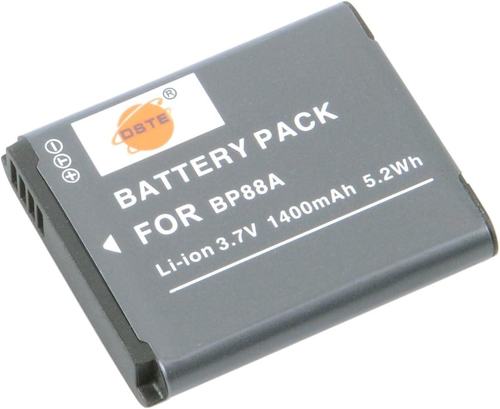 DSTE Replacement for 2X BP88A Li-ion Battery for Samsung DV200 DV300 DV300F Digital Cameras as IA-BP88A