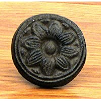 Cast Iron Sunflower Knob Drawer Pull Handle (Set of 6)