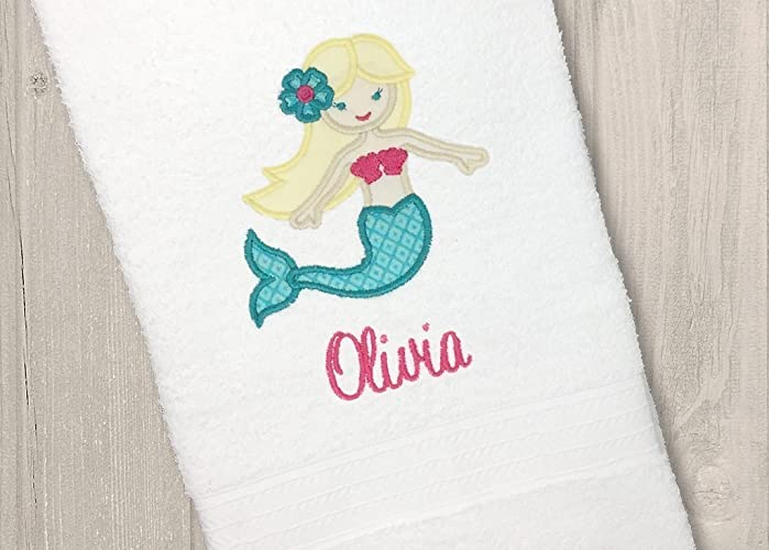 Amazoncom Personalized Mermaid Bath Towel Monogrammed Kids