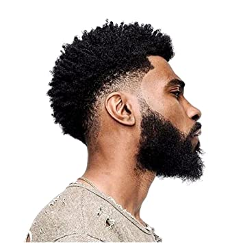 Amazon Com Pancy African Curly Thin Skin Toupee For Black