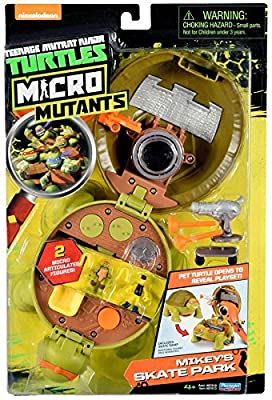 Teenage Mutant Ninja Micro Michelangelo's Skate Park Pet Turtle To Playset