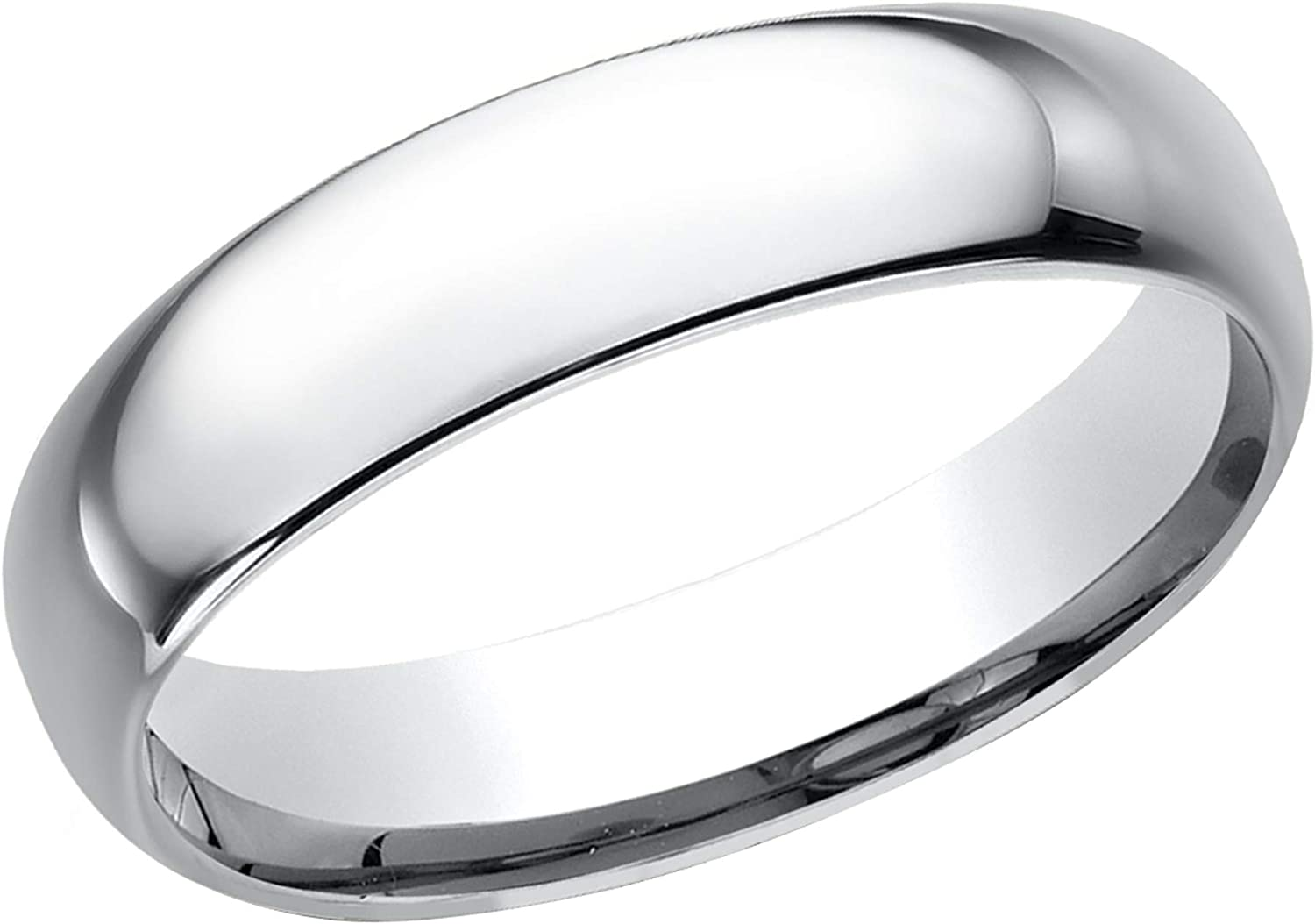 Prism Jewel 5.30mm D Shape Unisex Unisex Plain Stackable Wedding Band Crafted In 925 Sterling Silver