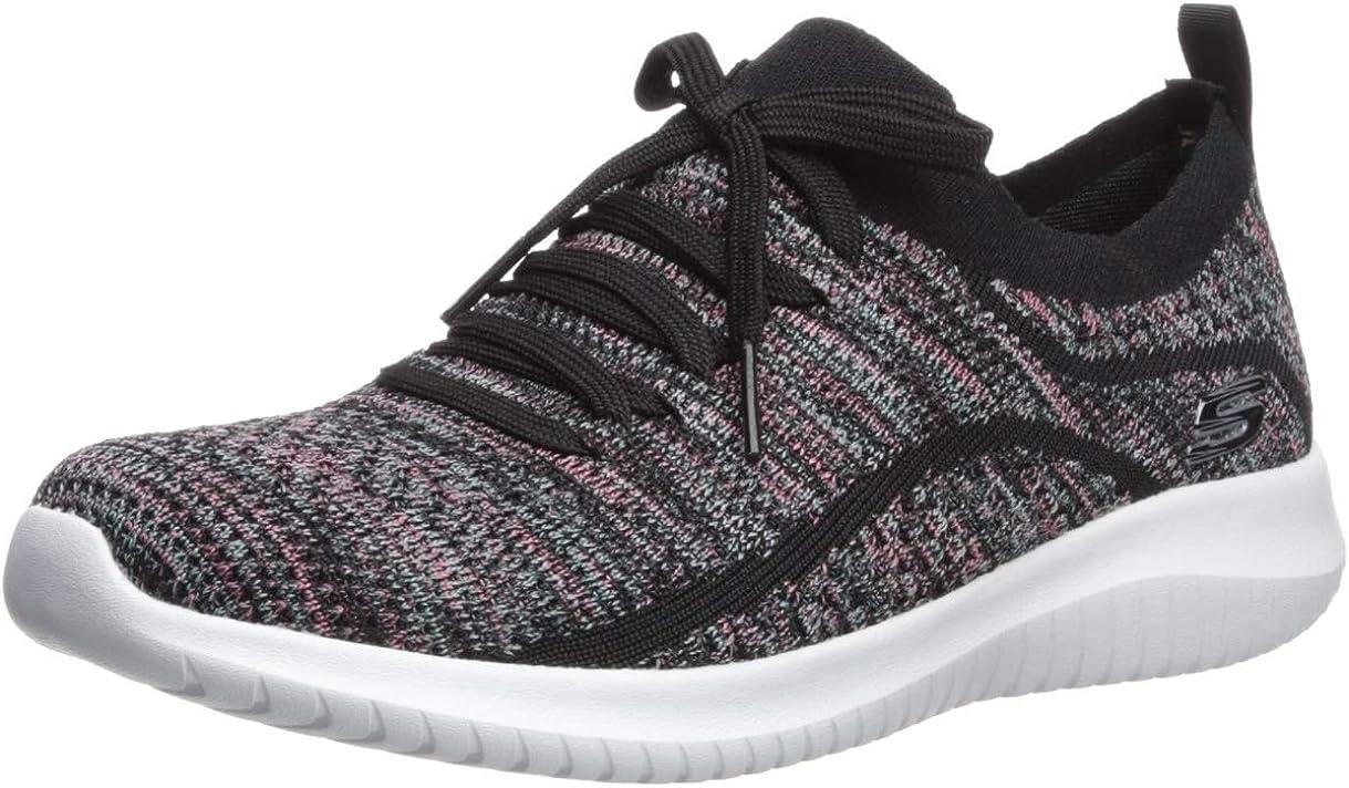 Skechers Ultra Flex - Statements, Sneaker Donna Black Multi