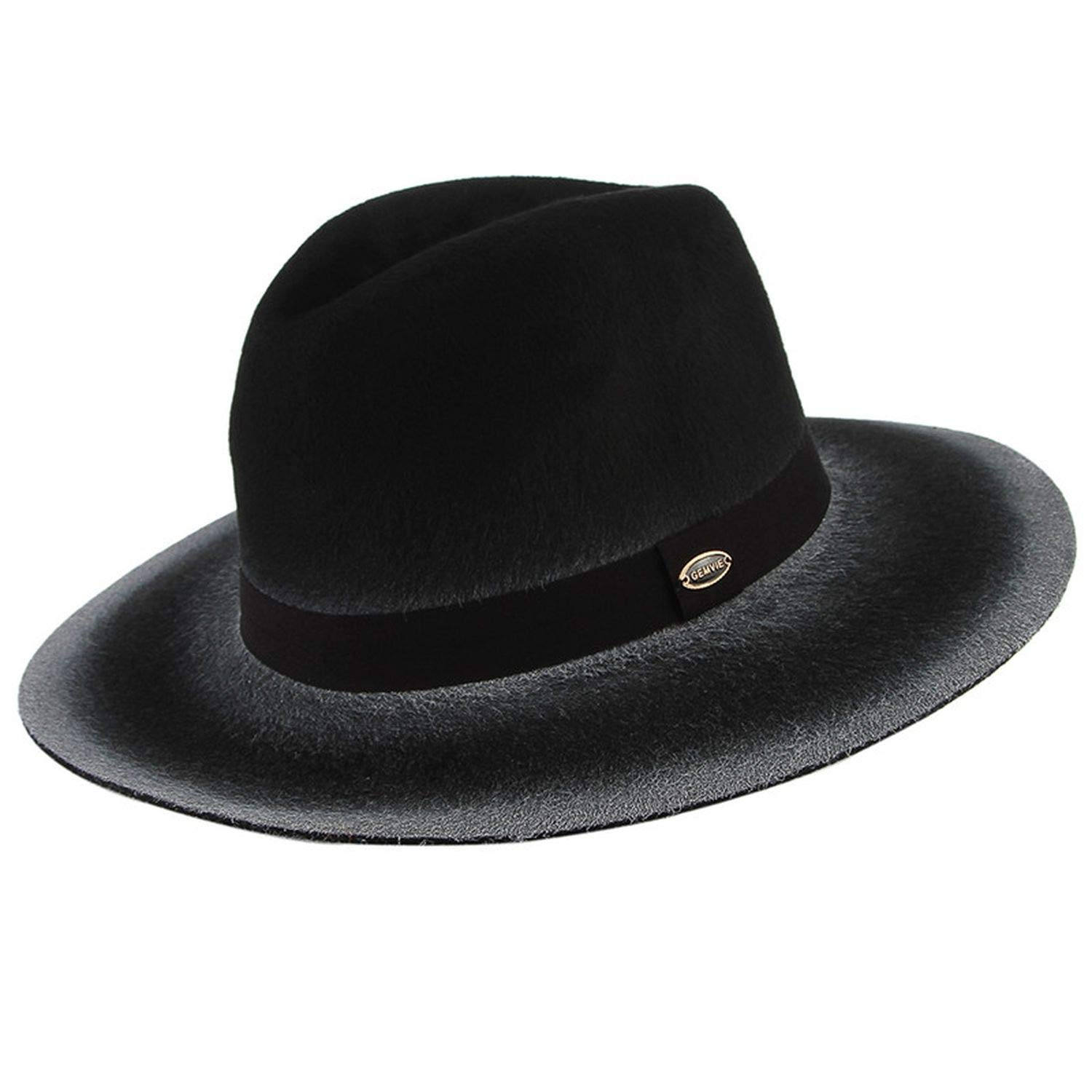 British Style Fedora Hats for Men Male Vintage Retro Classical Gentleman Wide Brim Jazz Top Hat with Ribbon