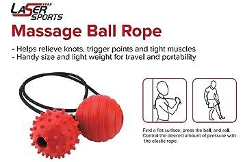 Laser Sports Massage Ball Rope - Ideal for Neck, Shoulders, Back Deep  Tissue Massage, Plantar