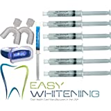 Easy-smile - Kit Tooth Whitening -Led Light + 60 Cc (6x10cc) Peroxide Carbamide 35% + Remineralization 3cc FCP Enamel Gel+2 Trays