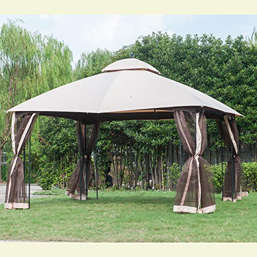 Replacement Canopy, Beige - Sunjoy 110109032