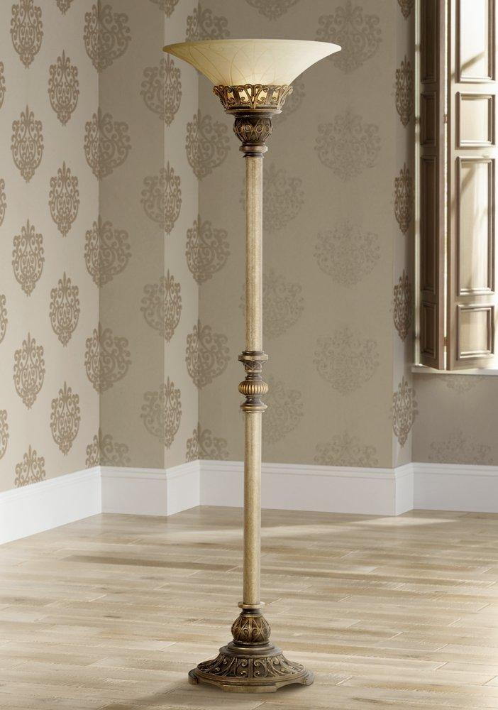 kathy ireland timeless elegance torchiere floor lamp amazon com
