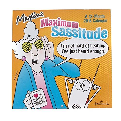 2018 Hallmark Maxine Wall Calendar (12 month)