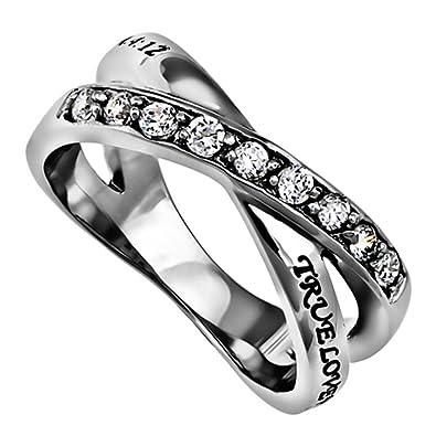 Amazoncom True Love Waits Purity Ring Christian Chastity Bible