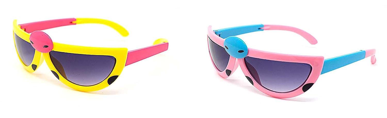 2 pares 1 luz color de rosa 1 amarillo para niños niños chicos o chicas con estilo bicho lindo estilo UVA/UVB sol