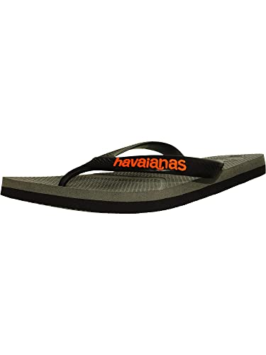 dbbd89e07 Havaianas Men s HAV Casual Steel Gray Black Rubber Sandal - 8M