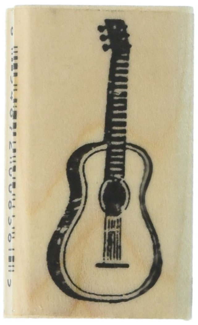 Stamps by Impression ST 0339 Guitar Rubber Stamp